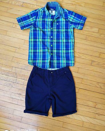 Шорти Denim, рубашка Primark 134-140р.
