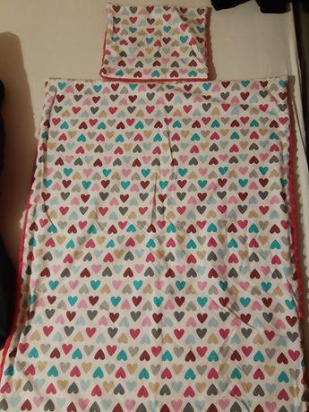 Komplet kołderka i poduszka do wózka lub łóżeczka
