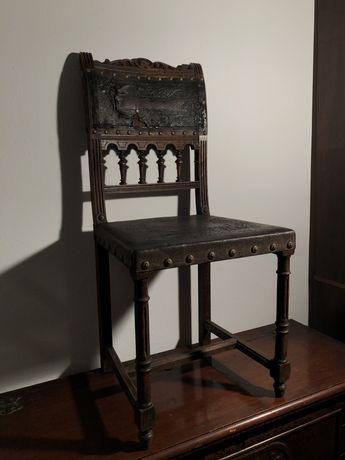 wyjątkowe bardzo stare krzesło antyk vintage