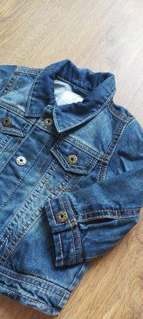 Kurtka katana ramoneska jeansowa dżinsowa jesień  next 67-74-80