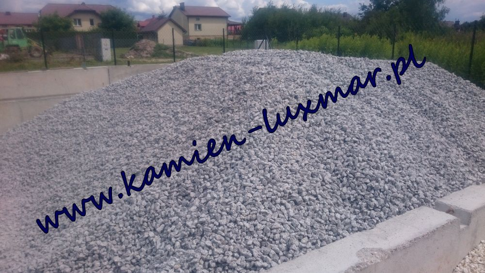 Grys granitowy BARDZO ŁADNY czysto szary,kamień ogrodowy 16/22 mm/ Radzymin - image 1