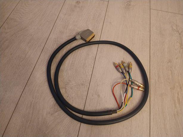 Kabel Przewód Przejściówka Scart Euro Chinch 6xRCA Thomson HQ Nowy