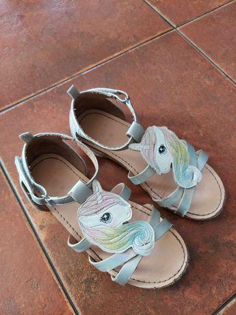 Sandały sandałki h&m jednorożce