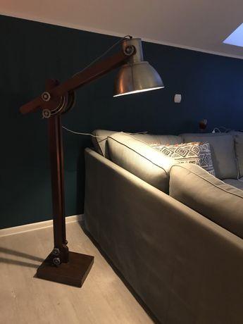 Lampa podłogowa made in india  Tk Maxx loft industrial drewno