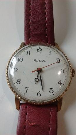 Zegarek mechaniczny marki Raketa, pozłacany, prod. ZSRR