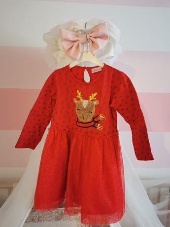 Sukienka świąteczna roz. 98