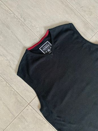 r. XL / TOP SECRET czarna bawełniana elegancka kamizelka 100% bawełna