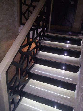 Balustrada ażurowa zabudowa klatki schodowej pochwyt schody pomiar