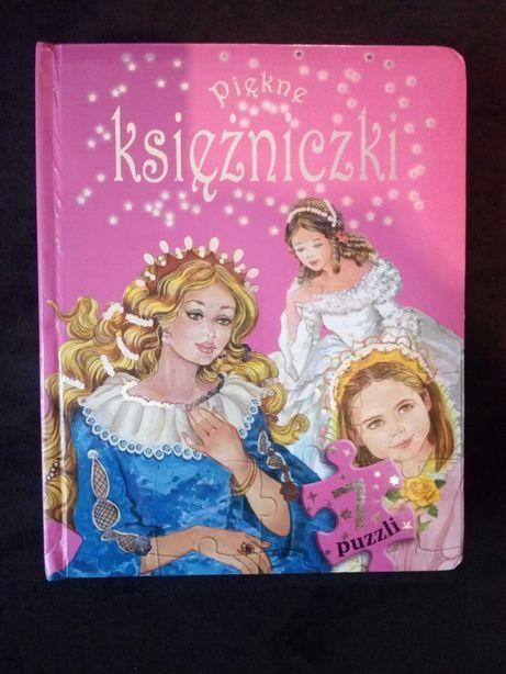 Księżniczki piękne książką z puzzlami.