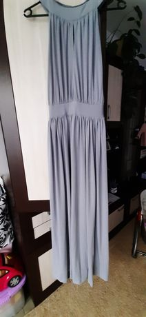 Szara długa sukienka M