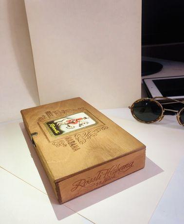 Коробка из под Кубинских сигар, винтажная, Box Rossli Habanaз