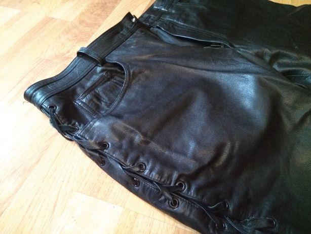Skórzane spodnie na motor
