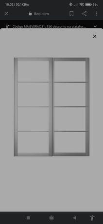 Vendo Estruturas + Calha p/ Roupeiro PAX IKEA (Nota: Sem os Painéis)