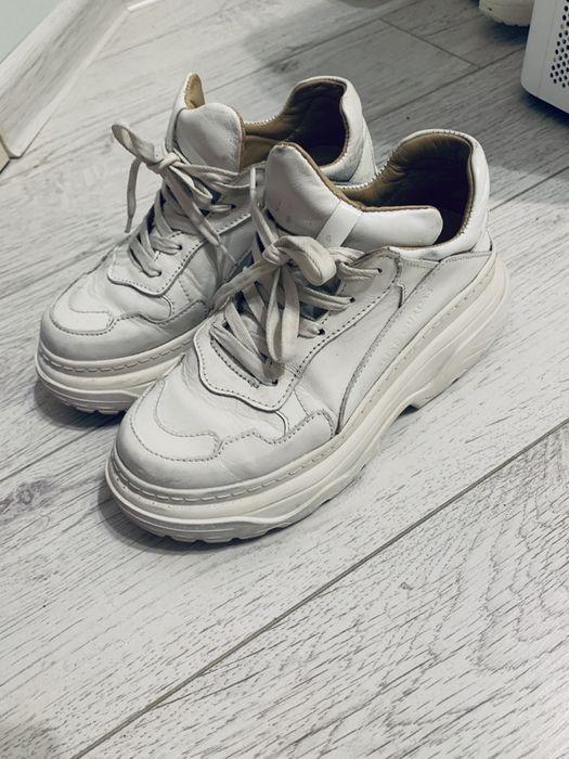 Белые кросовки на платформе , кожа 36р Киев - изображение 1