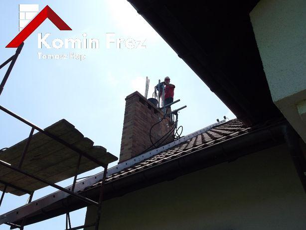 Frezowanie uszczelnianie kominów wkłady kominowe kwasoodporne ceramika