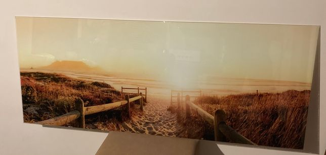 Obraz widok na szkle 125x50cm
