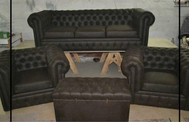 Шикарный диван и 2 кресла стиль «Честер»