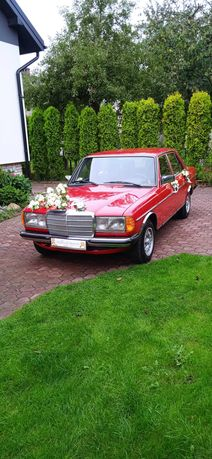 Merc do ślubu. Ten Czerwony - WYJĄTKOWY. Mercedes W123
