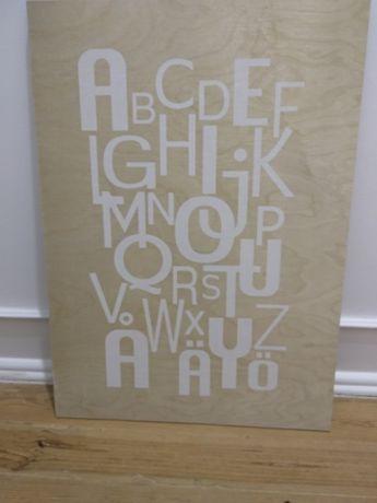 Quadro IKEA abecedário