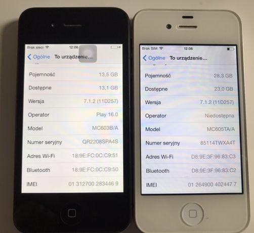 Na sprzedaz 2x iphone 4 32gb i 16gb