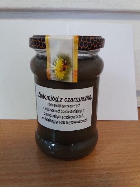 Miód zioło miód z czarnuszki kmin Rzymski