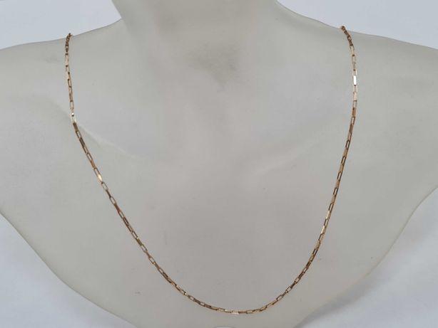 Klasyczny złoty łańcuszek damski / męski/ 585/ 2.56 gram/ 52cm