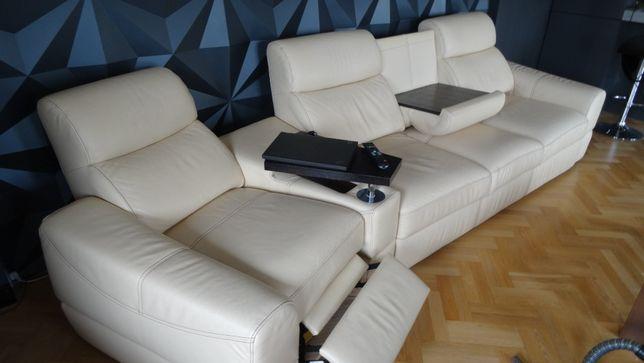 Skórzana kanapa ETAP SOFA z funkcją spania