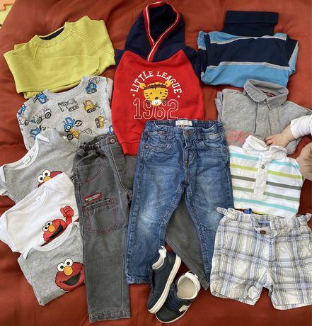 Roupa e calçado bebé menino 2 anos usado