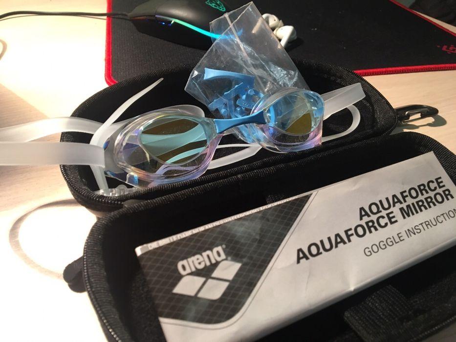 Очки для плавания, arena aquaforce mirror Вишневое - изображение 1