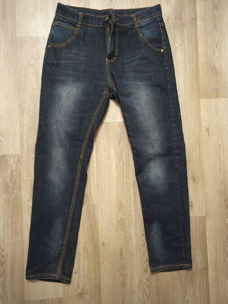 Мужские темно синие джинсы классические