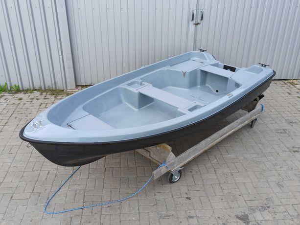 Łódka łodzie wędkarskie DELFINA 360 z relingami, płaskie dno, CE