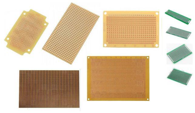 Veroboard/Placa Prototipo/PCB perfurada/Stripboard/FR4/Baquelite