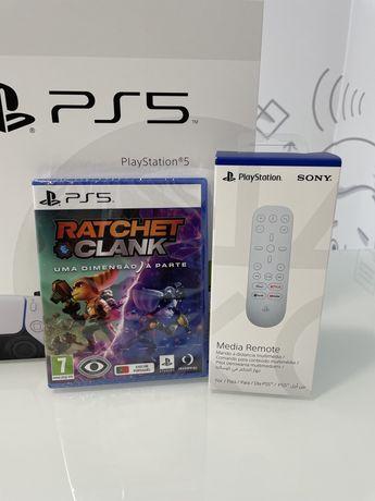 Consola PS5 + jogo + Sony Media Remote