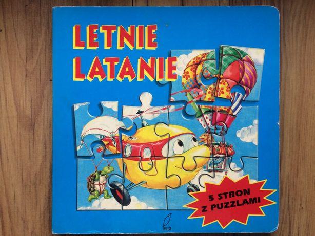 Letnie latanie - książka z 5 stronami z puzzlami