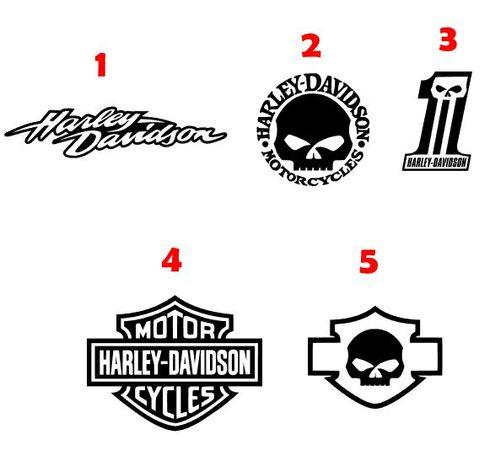 Autocolantes vinil Harley Davidson - portes grátis