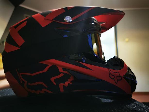 Kask cross enduro quad atv motocross motocyklowy rozmiar L 59-60cm