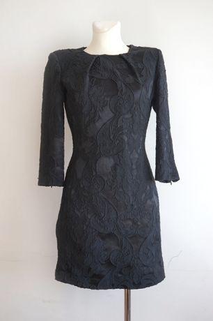 Elegancka mała czarna sukienka Mango suit XS bawełna