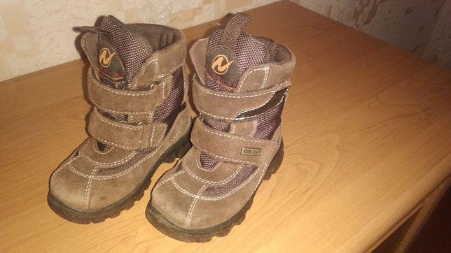 Зимние ботиночки на мальчика, размер 22-23