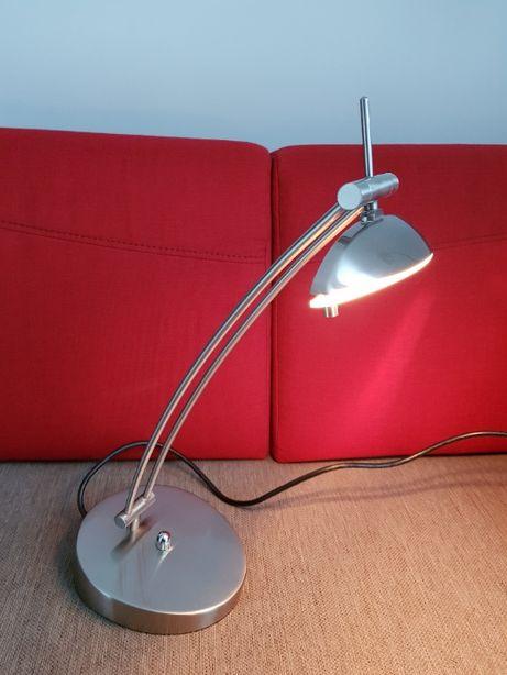 Lampa lampka stal szczotkowana ze ściemniaczem