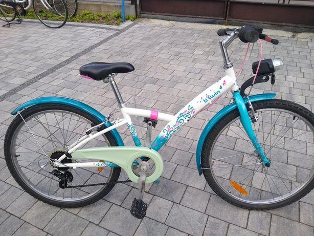 Rower młodzieżowy dla8-12latki Btwin koła24cale wysylka