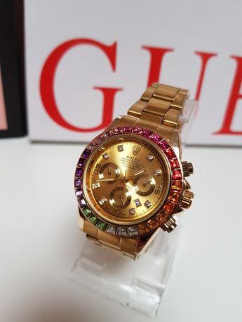 Zegarek Rolex Daytona Nowy  kolor złoty  damski męski  Super
