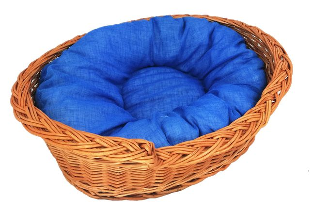 """Zestaw legowisko """"okienko"""" 50 cm + poduszka jasno-niebieska"""