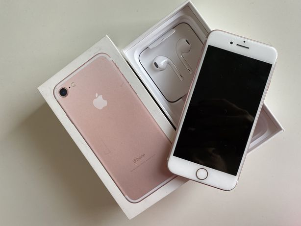 Iphone 7 rose gold różowy złoty