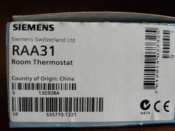 Termostat Siemens RAA31 - nowy, komplet