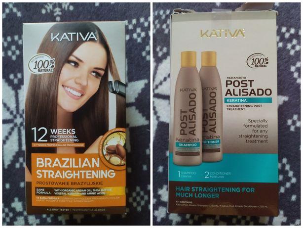Zestaw do keratynowego prostowania włosów odżywka szampon