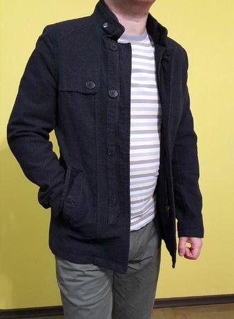 Укороченное приталенное легкое мужское пальто демисезон котон размер S