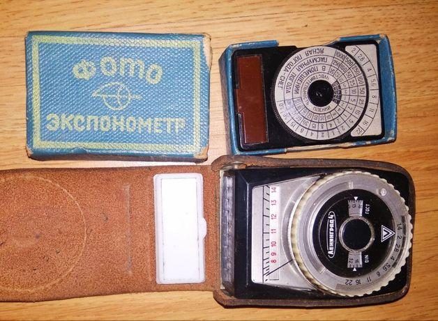 Раритетные фотоэкспонометр Оптек