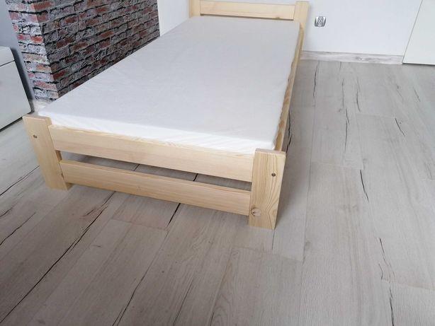 Łóżko 80x200 z materacem jednoosobowe pracownicze hotelowe + materac