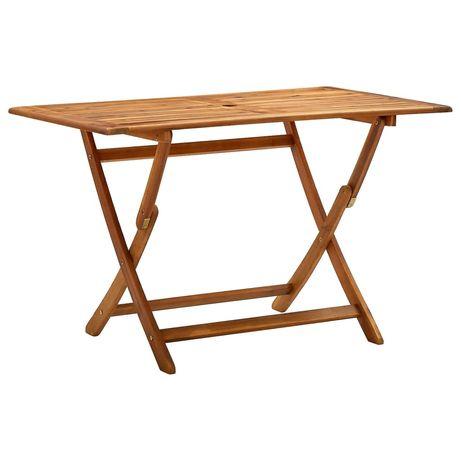 vidaXL Mesa de jardim dobrável 120x70x75 cm madeira de acácia maciça 313323