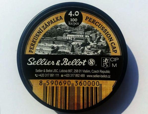 Kapiszony S&B Sellier & Bellot 4mm - 100szt. - czarny proch